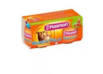 Plasmon Omog Manzo/pol 80gx2pz