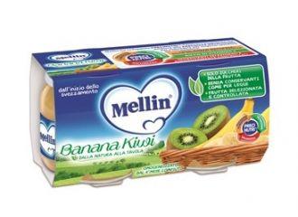 Mellin Omog Banana/kiwi 2x100g