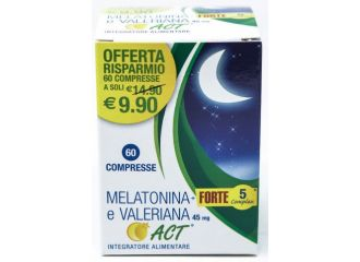 Melatonina Act1mg+valeriana 45 forte 60 compresse