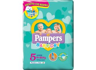 Pampers Baby Dry  Junior Taglia 5 ( 11-25 kg) 17 pezzi