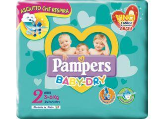 Pampers Baby Dry Mini Taglia 2 (3-6kg) 24 pezzi