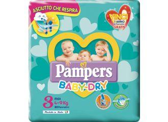 Pampers Baby Dry Midi taglia 3 ( 4-9 kg) 20pezzi