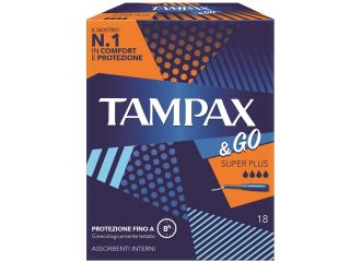 TAMPAX&GO Super Plus 18pz
