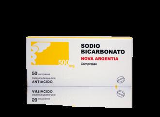 SODIO Bicarbonato 500mg  50 Compresse Nova Argentia