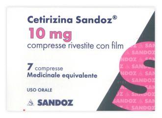 CETIRIZINA 10mg  7 Cpr SANDOZ