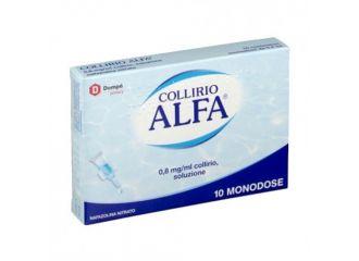 Collirio Alfa 10 contenitori monodose 0,3ml