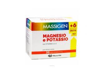 Massigen Magnesio e potassio 24 bustine + 6 omaggio
